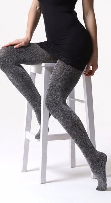 C02 tights: 100 den shiny melange